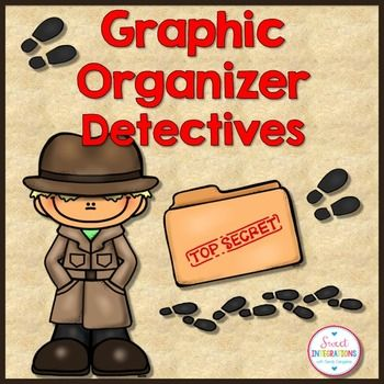 Graphic Organizers Mystery Book Detective Theme Graphic Organizers Detective Theme Detective Themed Classroom