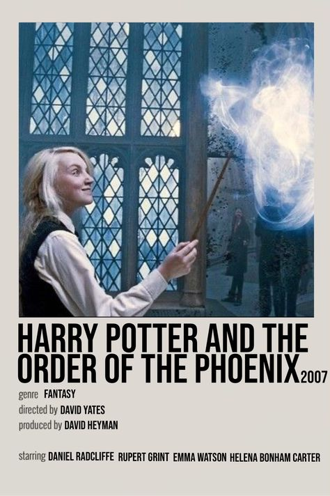 harry potter and the order of the phoenix film poster