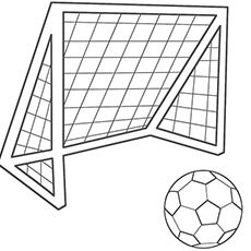 Image Result For Cartoon Soccer Goal Football Coloring Pages Football Kits Soccer Ball