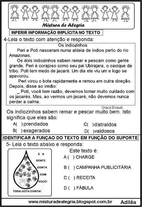 Simulado De Portugues Ensino Fundamental Com Gabarito Com Imagens