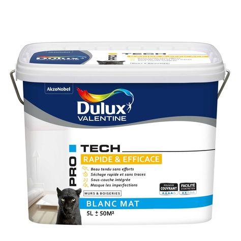 Peinture Dulux Valentine Mur Et Plafond Interieur Pro Tech Blanc Mat 5 L Peinture Dulux Dulux Valentine Et Valentine