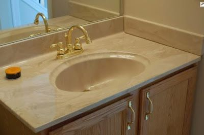 One Piece Bathroom Vanity Tops With