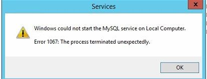 Commonly Known As The Error 1067 Occurs In The Windows Os This Error Shows Up With A Message Saying Error 1067 The Proces In 2020 Mysql Process Latest Technology News