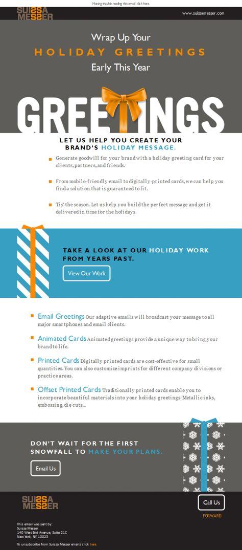 20 best Newsletter design images on Pinterest Newsletter design - email greeting