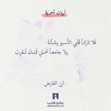 من اجمل ابيات الشعر لـ ابن الفارض عالم الأدب Beautiful Arabic Words Arabic Poetry Quotes