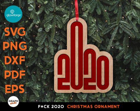 2020 Fuck Flake Wooden Xmas Ornament