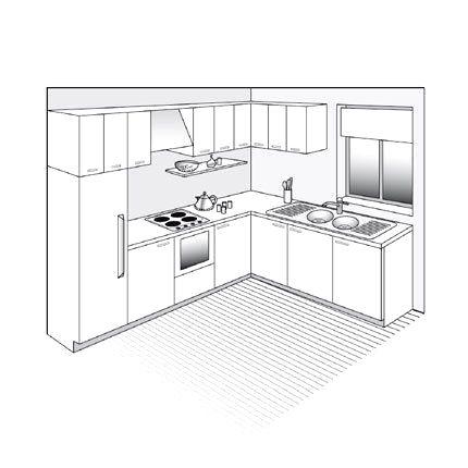 Plan Cuisine En L Ideas En 2020 Plan Cuisine Decoration Interieure Cuisine Relooking Cuisine