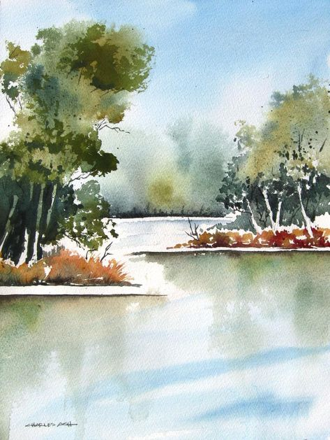 Cottonwood Bend Aquarelle Originale En 2020 Tableaux De