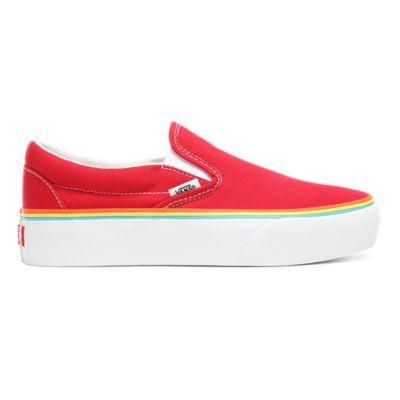 Chaussures Rainbow Foxing Classic Slip-On Platform | Rouge ...