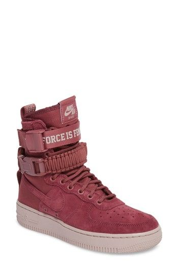 Nike Women S Sf Air Force 1 Casual Shoes Red Modesens Nike