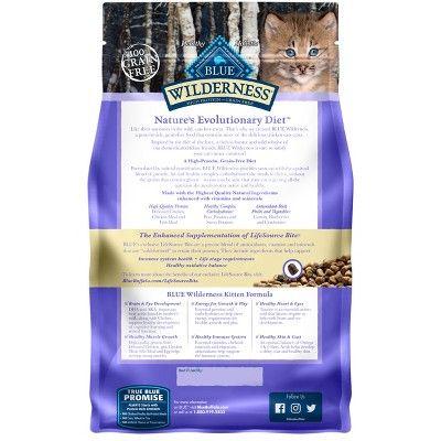 Blue Buffalo Wilderness 100 Grain Free Chicken Kitten Dry Cat