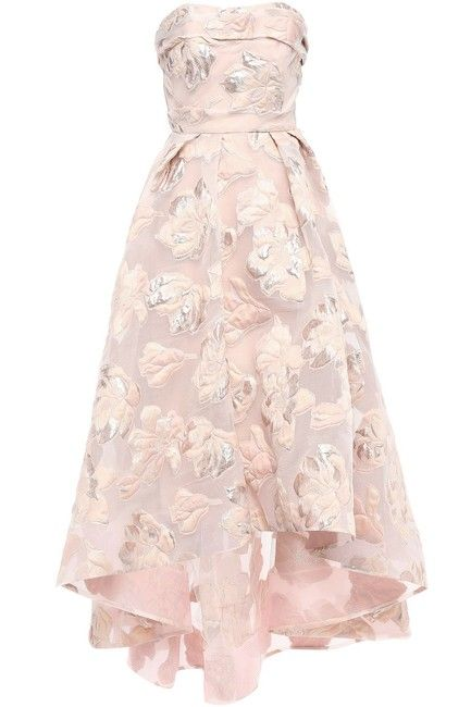 Marchesa Notte Pastel Strapless Asymmetric Metallic Fil Coupé Gown Long Formal Dress Size 6 (S) Pretty Outfits, Pretty Dresses, Beautiful Dresses, Pageant Dresses, Formal Dresses, Quince Dresses, Quinceanera Dresses, 15 Dresses, Club Dresses