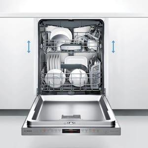 Bosch 800 Series Puredry Ada 44 Decibel Top Control 24 In Built In Dishwasher Panel Ready Energy Star Ada Compliant Lowes Com Built In Dishwasher Integrated Dishwasher Built In Dishwashers
