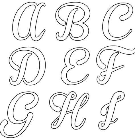 Alfabeto Cursivo Moldes Ideias Para Imprimir Com Imagens
