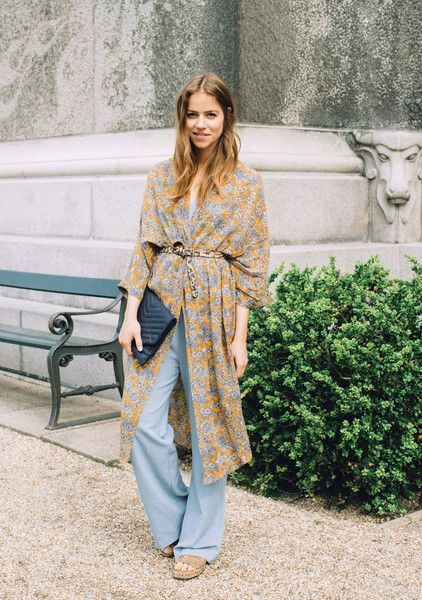 Wrapped Up in a Kimono  - How to Style Wide Leg Pants - Photos