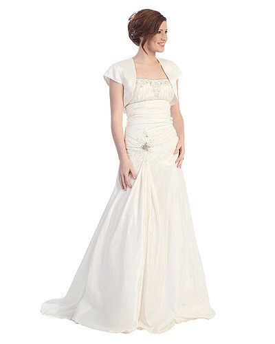 Sears Ivory Satin Evening Dress For The Wedding