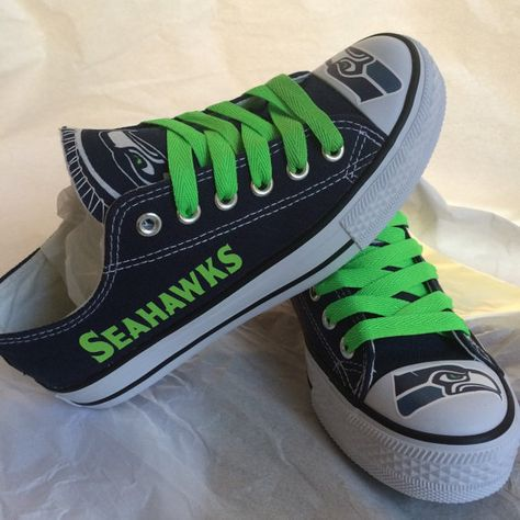 52a38d19ae48f4 Seattle seahawks tennis shoes please read description before purchasing