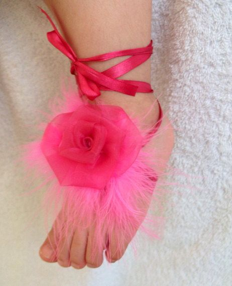 10+ Baby Ribbon Shoes ideas   bare foot