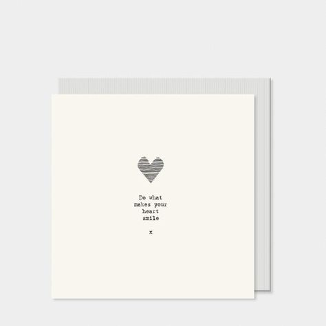"""East of India card with envelope - """"Do what makes your heart smile"""" Size: 13.5 x 13.5 x 0.5cm"""