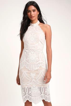 Love Poem Ivory Lace Mini Dress New Bridal Dresses Lace Dress Little White Dresses