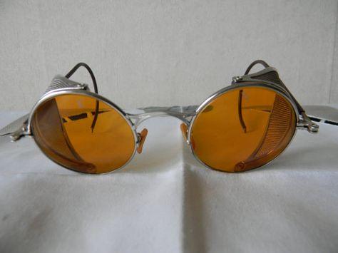 VINTAGE 40S SUNGLASSES brown glass lens