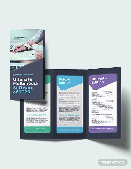 best brochure designs 2020 Software Company Tri Fold Brochure | Brochure Templates & Design