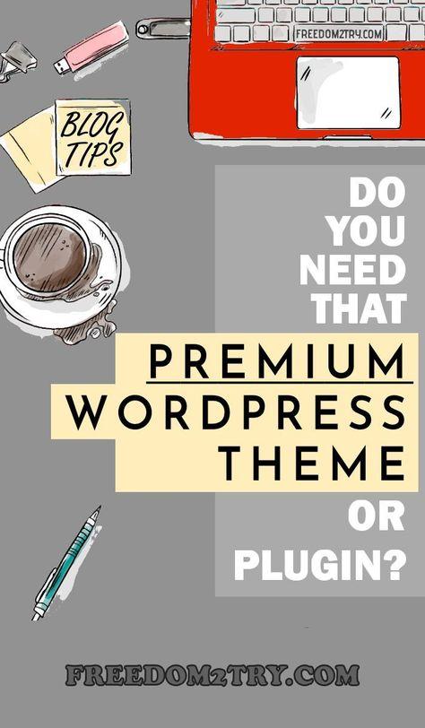 Should You Buy A Premium WordPress Theme Or Plugin?