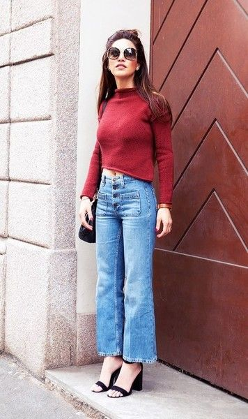 Style With a Cropped Sweater - Effortless Ways to Style the Denim Trend of the Moment - Photos