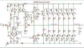 1200w Power Amplifier Crown Xls 1200 With Images Crown Amplifier Audio Amplifier Circuit Diagram