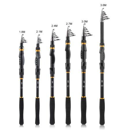 1.5M Telescopic Sea Fishing Rod Short Mini Fish Hand Carbon Fiber Pole Portable