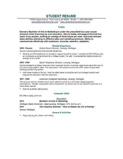 Graduate School Resume Template Resume Template Builder - http - post graduate resume