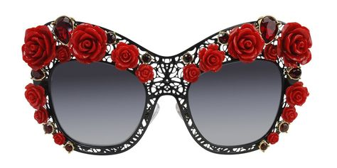 91195bca830 Dolce Gabbana - Flowers Lace Limited Edition Black Red - Gray sunglasses