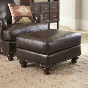 Tremendous Montgomery Leather Ottoman By Birch Lane Best Reviews Evergreenethics Interior Chair Design Evergreenethicsorg