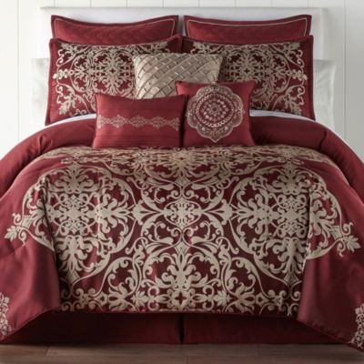 Jcpenney Home Creston 7 Pc Embroidered Comforter Set With Images
