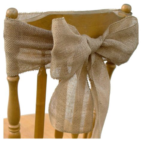 "Burlap chair sash idea (7"" x 108"")"