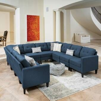 Hemphill 104 Wide Reversible Sofa Chaise With Ottoman U Shaped Sectional Sofa U Shaped Sofa U Shaped Sectional