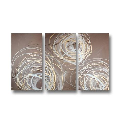 Abstract art canvas painting gold brown . Wall art paintings