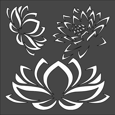 1- 5.5x5.5 inch Stencil, Flower, Free Shipping (2)