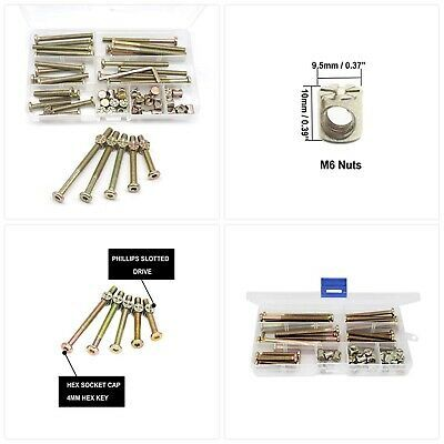 Baby Bed Crib Screws Hardware  Kit cSeao 25-Set m6x40mm//50mm//60mm