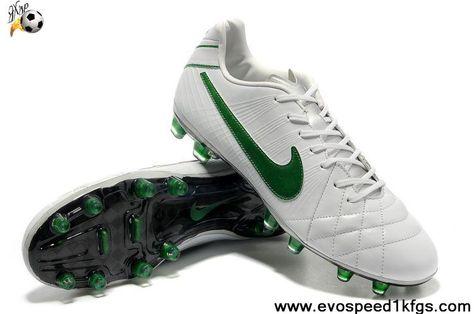 06545e41a9e6 Cheap Discount White-Dark Green Nike Tiempo Legend IV Elite FG Football  Shoes On Sale