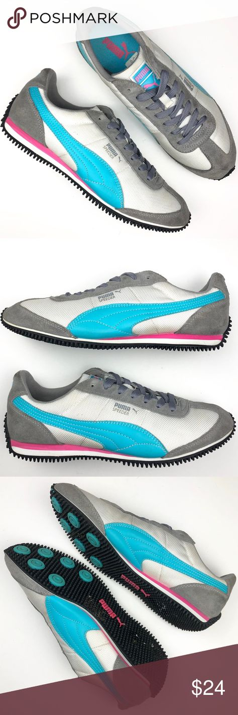 10ab09fc7df Puma Speeder Mesh 2 running shoes Puma Speeder Mesh 2 joggers   grey   blue    pink classic joggers re-issued from the PUMA archives in the early 70s  Medium ...
