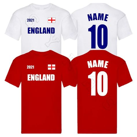 Add any name and number on the back to celebrate England this summer!