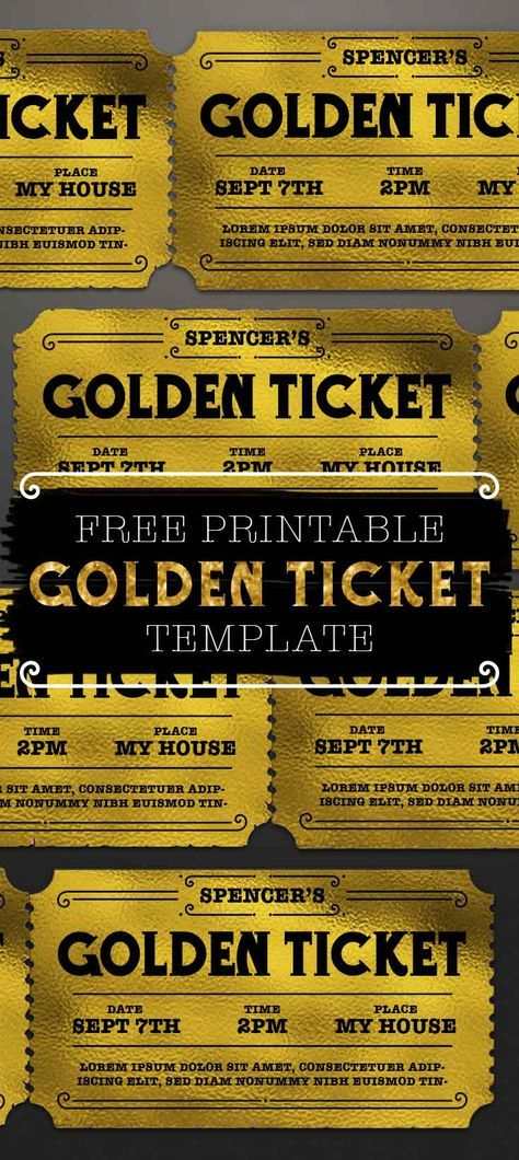 graphic regarding Printable Golden Tickets named Customizable Golden Ticket Template champion tickets