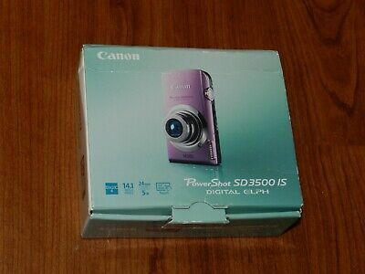 New In Box Canon Powershot Elph Sd3500 Camera Pink Digital Camera Camera Pink Canon Powershot Elph
