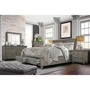 Allenville 6 Piece King Bedroom Set Gray King Bedroom Sets