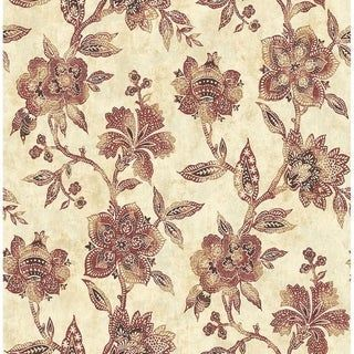 Jacobean Wallpaper Red Gold And Cream 246923992087277401 In 2020 Floral Wallpaper Wallpaper Roll Wallpaper