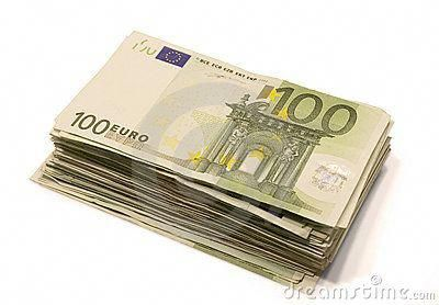 Stacks Paper Bills Stack Of Euro Bills Royalty Free Stock Photos