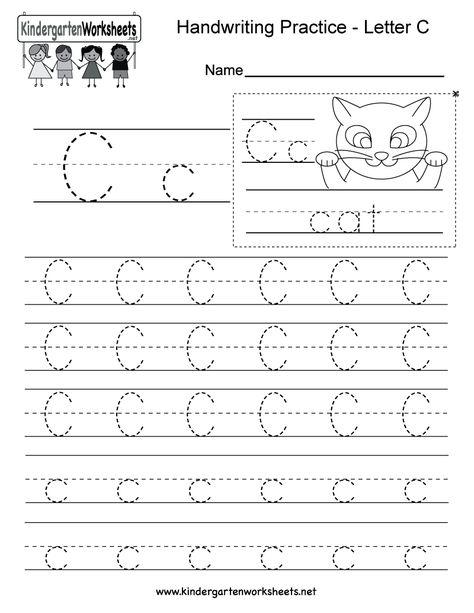 Letter C Printable Worksheets