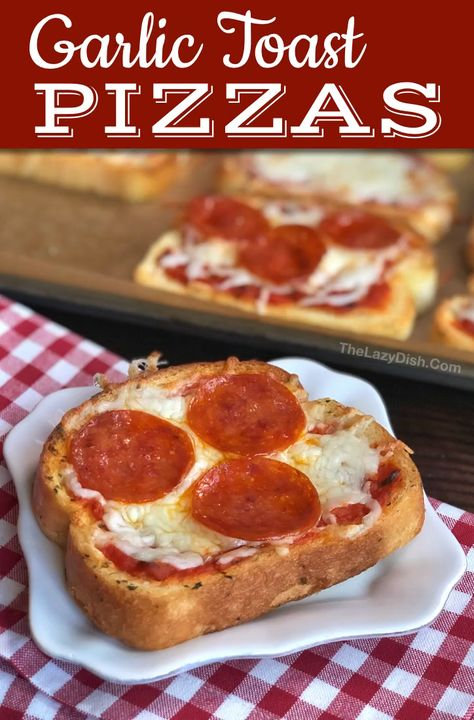 Easy Dinner Idea: Garlic Toast Pizzas (kids love these!)