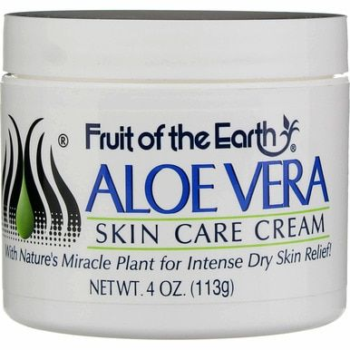 Fruit Of The Earth Aloe Vera Skin Care Cream 4 Oz In 2020 Aloe Vera Skin Care Skin Care Cream Skin Care